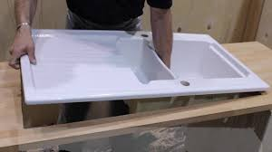 Installing An Astracast Ceramic Sink YouTube - Installing a kitchen sink