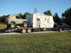 gooseneck toy hauler open deck pirate4x4 4x4 and off road