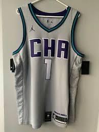 Central railroad terminal, jersey city, nj. Malik Monk Sz M Charlotte Hornets City Edition Jordan Nba Jersey Ebay