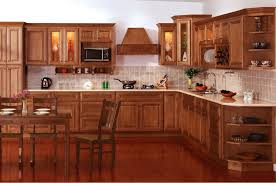 attractive kitchen decoration with staining oak wood kitchen cabinet cute image of kitchen decoration using