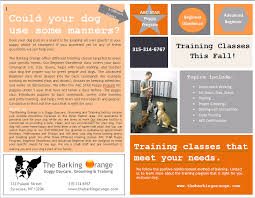 Training Flyer Our New Training Flyer Classes Start This Fall The Barking Orange