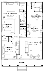 Bedroom With Large Garage House Plans Bedroom Ranch House Floor    bedroom   large garage house plans