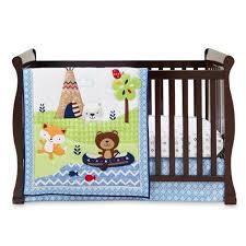 cute crib baby bedding set 3 pc adventure land animal nursery infant soft gift