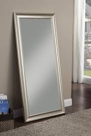 silver floor mirror. Interesting Silver Amazoncom Sandberg Furniture 14011 Champagne Silver Full Leaner Mirror  Home U0026 Kitchen Throughout Floor Mirror L