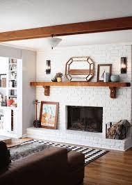 4 Foot Wooden Wall ShelfShelf For Fireplace