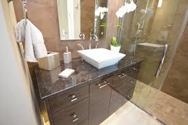 granite vanity with vessel sink and tile backsplash bathroom countertop ideas granite bathroom countertops