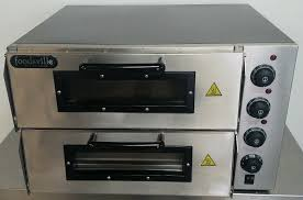 new electric countertop double deck pizza bread oven c w easy payments get now for 249
