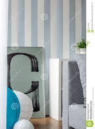 Blauw En Wit Gestreept Behang Stock Afbeelding Afbeelding