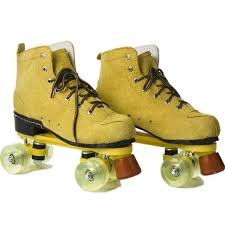skate women men leather wheel roller skating double