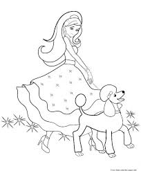 Popular Barbie Pearl Princess Coloring Pages With Barbies Coloring