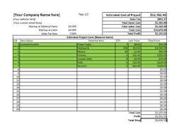 Work Estimate Templates 11 Job Estimate Templates And Work Quotes Excel Word Hloom