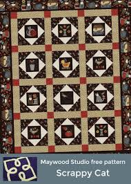 29 best Woolies Flannel Quilts images on Pinterest | Flannel ... & Scrappy Cat designed by Bonnie Sullivan. Uses Sew Purrfect Flannel and  Woolies Flannel fabric collections Adamdwight.com
