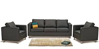 sofa set. Beautiful Sofa Carbo Sofa Set 311 Seater In Black Colour By Godrej With N