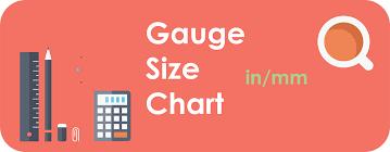 Sheet Metal Gauge Sizes Chart Gauge Inch Mm Conversion
