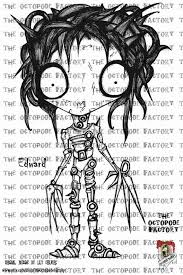 Horror Edward Scissorhands Coloring Pages Print Coloring