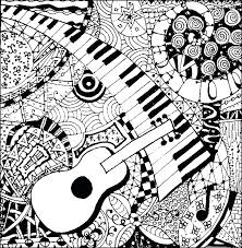 Music Coloring Pages For Adults Note Book Also Fresh Free Printables