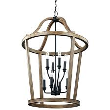 wood lantern chandelier light in weathered oak p mirrors arts and crafts outdoor lighting mission style