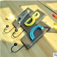 Carabiner Coat Rack Letter Design Wall Hooks Hanger Cteative Coat Keys Bag Hanger 97