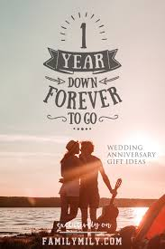 1 year down forever to go gift ideas 1st wedding anniversary