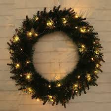 How To Hang Lighted Wreath On Door Led Light Christmas Wreath Tree Hanging Party Garland