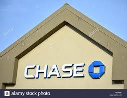chase bank logo in bellingham washington stock image