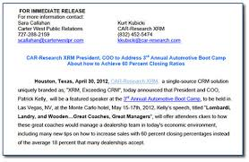 Simple Press Release Template The 4 Fundamentals Of Writing A Good Press Release Carter West