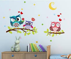 new night owl creative infantile wall art bird animal home