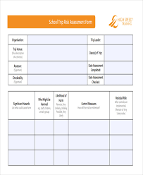 19+ Free Risk Assessment Forms   Free & Premium Templates