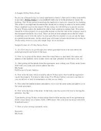 thirty day notice letter printable sle to vacate form free landlord tenant let move out template