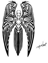 Tribal Angel Designs Tribal Gothic Angel Tattoo Design