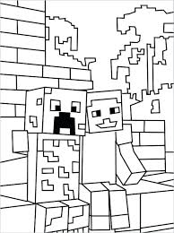 Minecraft Coloring Pages For Kids Coloring Pages Camelliacottageinfo