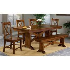 mercantila furniture. Whalen Furniture Entree Cornwall X Trestle Table Set W 4 Side Chairs And Bench Mercantila F