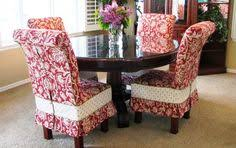 parsons round table with chair slipcovers