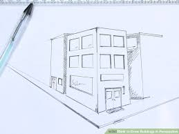 architecture buildings drawings. Fine Buildings 728x546 How To Draw Buildings In Perspective 9 Steps With Pictures In Architecture Drawings
