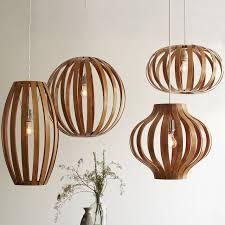 bent wood pendant onion 3 wire cord set cfl