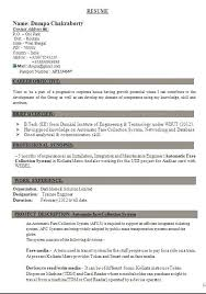 Resume Template Doc Pattern Sample Curriculum Vitae Download