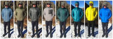 a comparison look at the fit and styles of eight of the lightweight down jackets