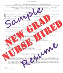 New Grad Rn Resume Sample Graduate Thekindlecrew Com