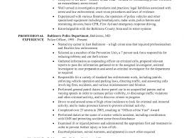 Sample Resume Police Officer Resume Sample