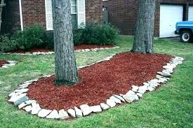 flower bed border ideas wood edging garden