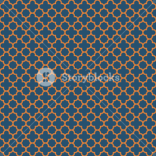 Quatrefoil Pattern Adorable Blue And Orange Quatrefoil Pattern RoyaltyFree Stock Image
