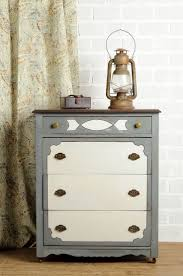dresser painted in Miss Mustard Seed's Milk Paint using curio, trophy and  ironstone - via