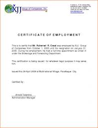 Sample Certificate Of Employment In Mcdonalds Philippines Copy
