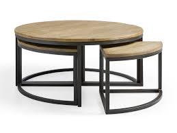 palmer round nesting coffee table