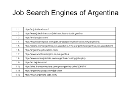 Job Engines Job Search Engines Of South America