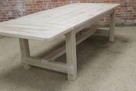 White Washed Farm Table With Custom Trestle Ecustomfinishes