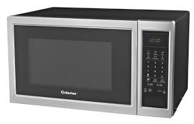 criterion reg stainless on black 0 9 cu ft countertop microwave