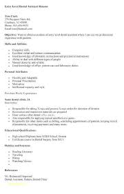Dental Assistant Resume With No Experience Elegant Sample Dental