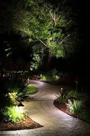effective use of path lighting and up lighting to create this magic nighttime effect landscapelighting pathlights outdoorsy things i like