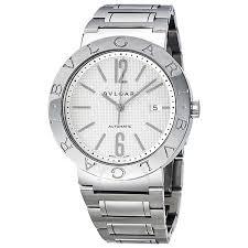 bvlgari bvlgari automatic white dial stainless steel men s watch bvlgari bvlgari automatic white dial stainless steel men s watch 101381